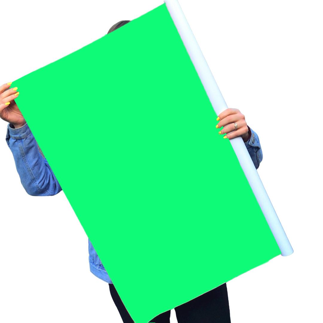 Однотонный виниловый фотофон ярко зеленый
