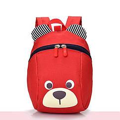 Рюкзак детский маленький мишка Baby Bag Красный с поводком ( IBD001R )