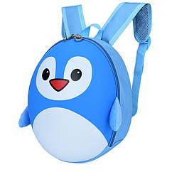 Рюкзак детский Baby Bag Пингвин Голубой ( код: IBD003L )