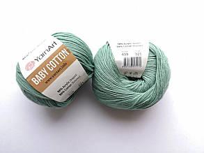 Пряжа Беби Коттон ЯрнАрт YarnArt Baby Cotton  цвет 439 лазурь
