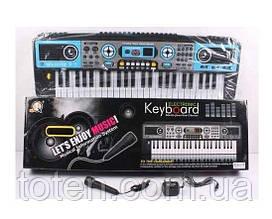 Пианино MQ 017 UF работает от батареек и от сети 220 V, микрофон, FM Radio, в коробке