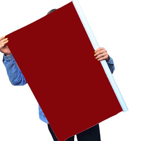 Однотонный виниловый фотофон бордовый, фото 2