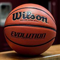 Мяч баскетбольный Wilson Evolution размер 7 композитная кожа коричневый (WTB0516XBEMEA)