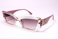 Женские солнцезащитные квадратные очки Дольче Габбана 2092 C5 реплика в розовой оправе