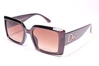 Женские солнцезащитные квадратные очки Дольче Габбана 3283 C2 реплика Коричневые