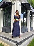 Макси платье в горошек с разрезом на ноге, с коротким присборенным рукавом (р. 42-46) 83032516, фото 7