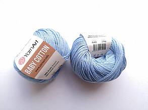 Пряжа Беби Коттон ЯрнАрт YarnArt Baby Cotton  цвет 448 голубой
