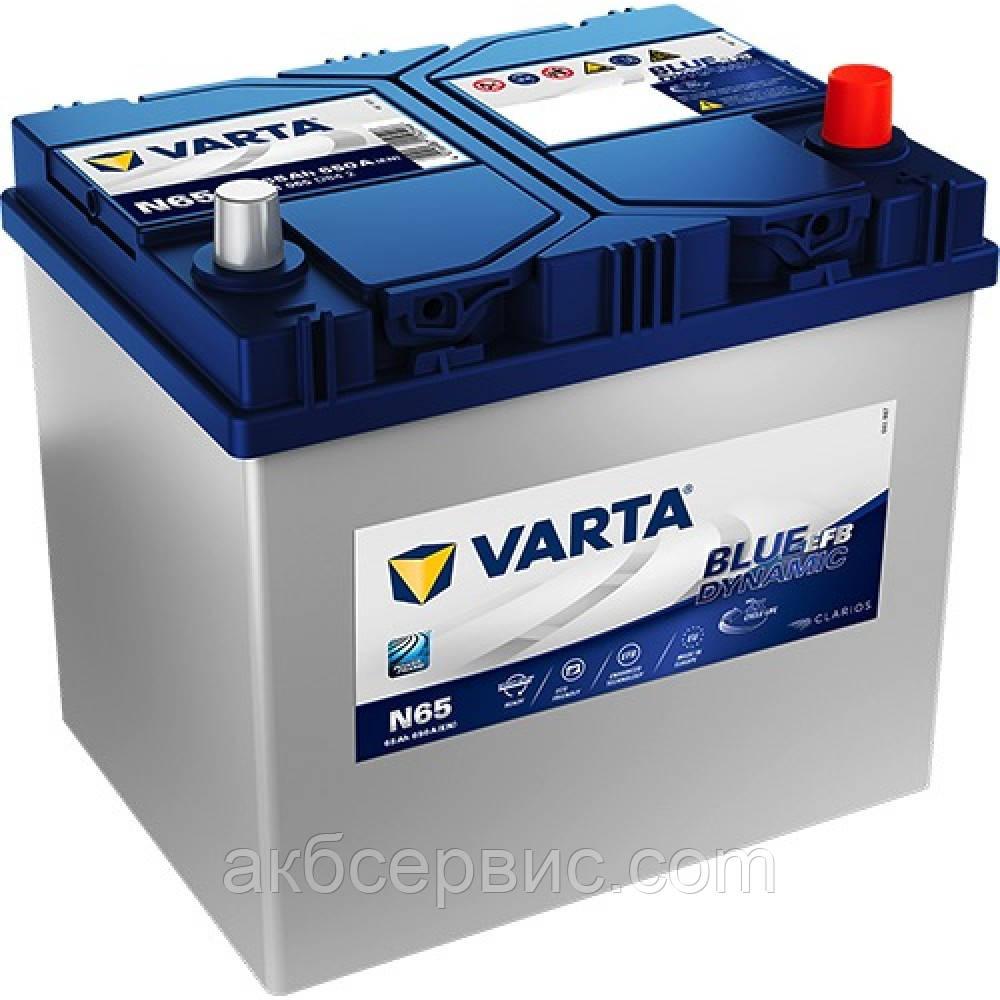 Акумулятор автомобільний Varta 6СТ-65 Blue Dynamic EFB (N65)