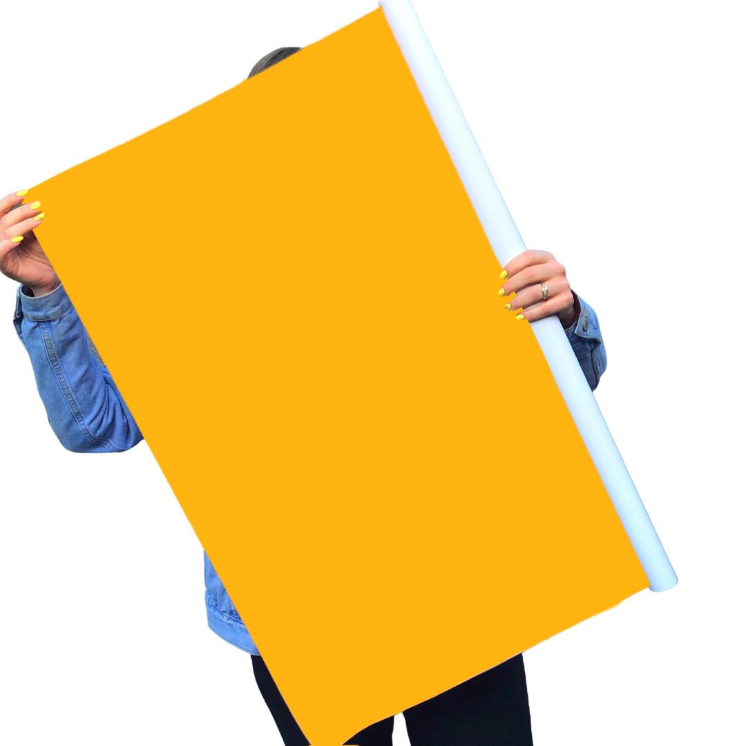 Однотонний вініловий фотофон насичений жовтий