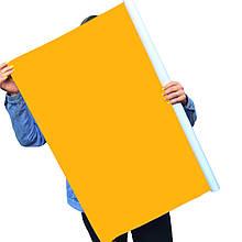 Однотонный виниловый фотофон насыщенный желтый