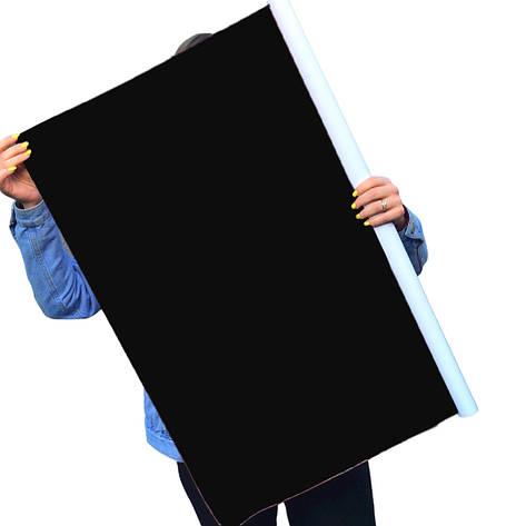 Однотонний вініловий фотофон чорный, фото 2