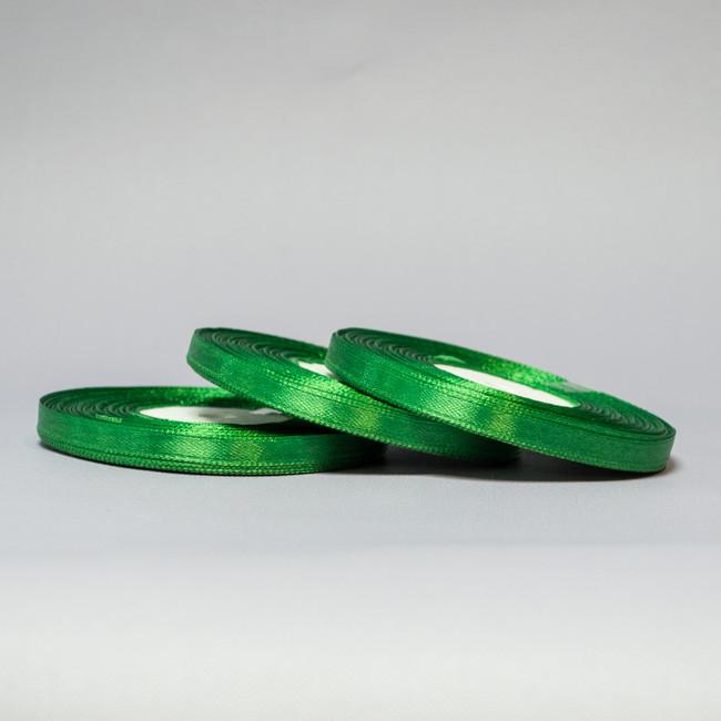 Лента атласная 0,7 см зеленый за 33 м.