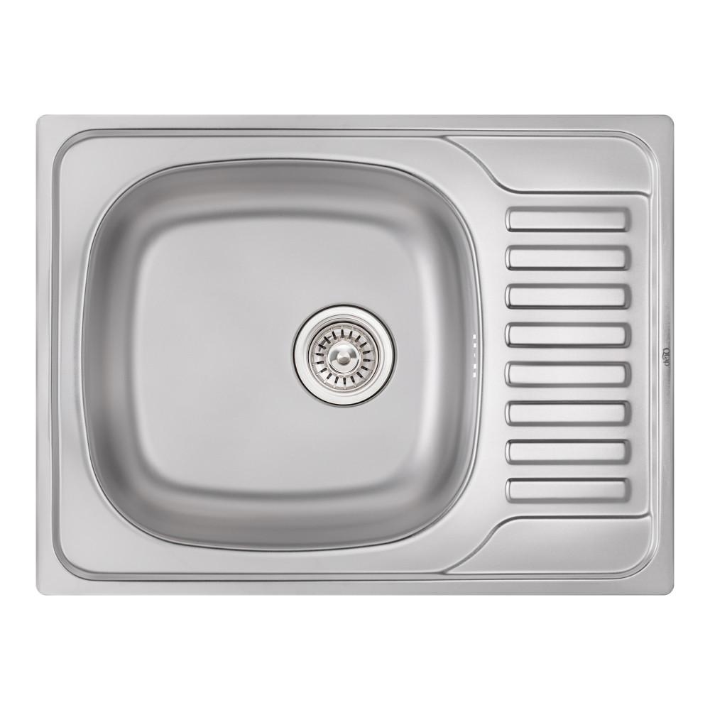 Кухонная мойка Qtap 6550 0,8 мм Satin (QT6550SAT08)