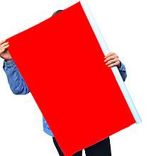 Однотонный виниловый фотофон яркий красный
