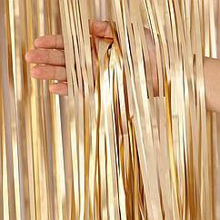 Шторка из фольги для фото зоны 1×2метра (золото сатин)
