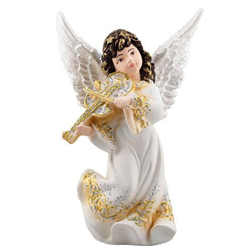 Статуетка Decoline Ангел з скрипкою кольоровий, (гіпс) AN0732-4(G)