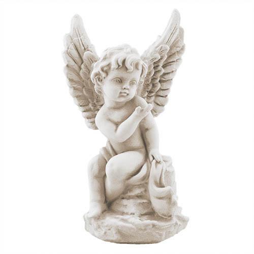 Статуетка Decoline Ангелик на камені пісочний,  (гіпс) AN0715-7(G)