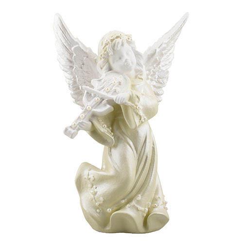 Статуетка Decoline Ангел з скрипкою з перлинками, (гіпс) AN0732-2(G)