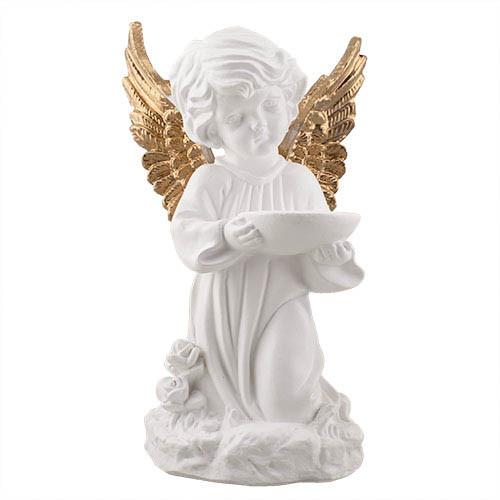 Статуэтка Decoline Ангел с чашей бело-золотой, (гипс) AN0022-3 (G)