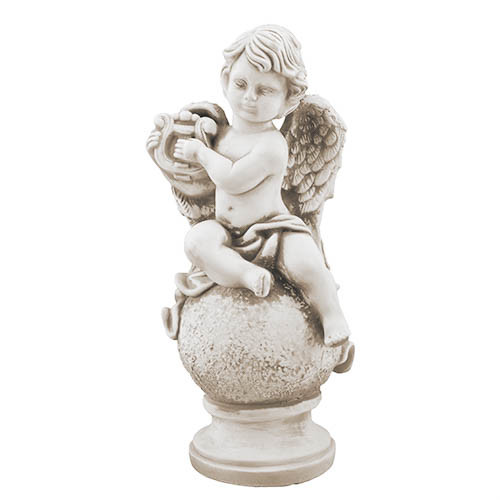 Статуэтка Decoline Ангел с арфой песочные, (гипс) AN0105-7 (G)
