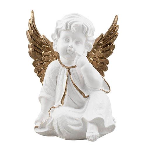 Статуэтка Decoline Ангел в раздумьях бело-золотой, (гипс) AN0706-3 (G)