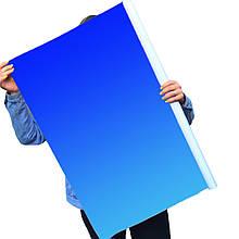 Однотонный виниловый фотофон синий градиент