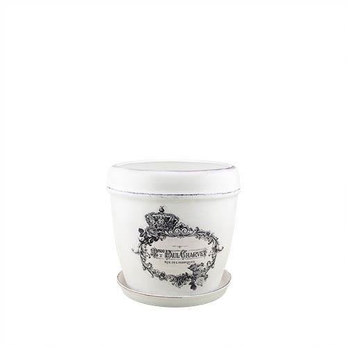 Горщик для квітів керамічний Decoline Кокос №3, 2,2 л.   (протирка) V2020-6