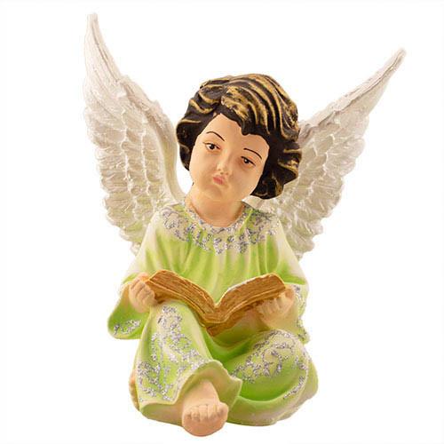 Статуетка Decoline Ангел з книжкою кольоровий,  (гіпс) AN0707-1(G)