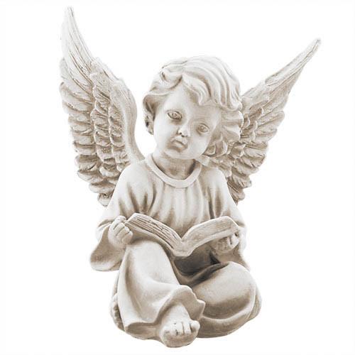 Статуэтка Decoline Ангел с книгой песочные, (гипс) AN0707-7 (G)
