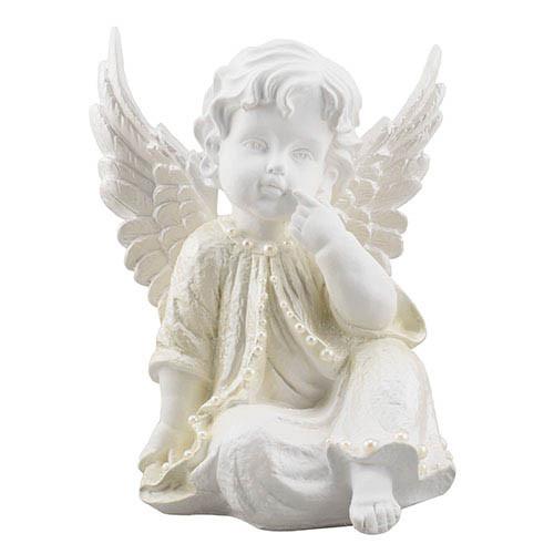 Статуетка Decoline Ангел в роздумах з перлинками, (гіпс) AN0706-2(G)
