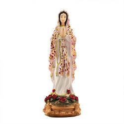 Статуэтка Decoline Дева Мария с розами цветная, (гипс) R0205-4 (G)