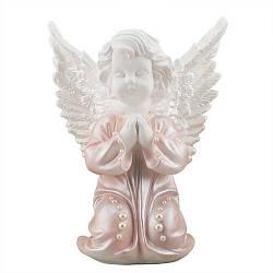 Статуетка Decoline Ангел в молитві з перлинками,  (гіпс) AN0024-2(G)