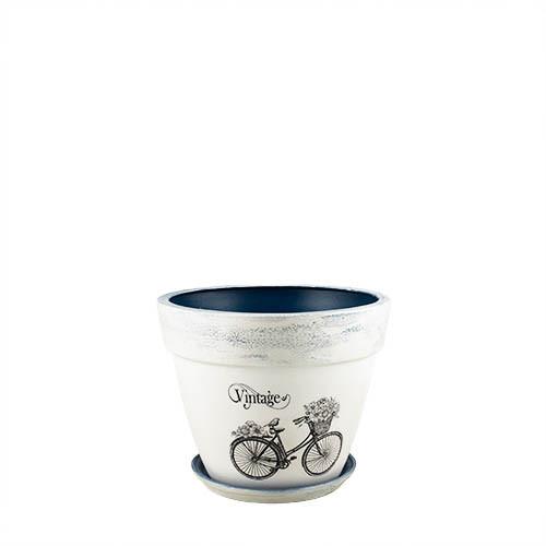 Горщик для квітів керамічний Decoline Спарта  №3, 3,8 л. (кракелюр) V2052-2
