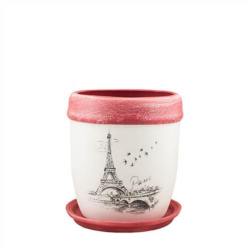 Горщик для квітів керамічний Decoline Кокос №2, 5,8 л.   (кракелюр) V2019-4