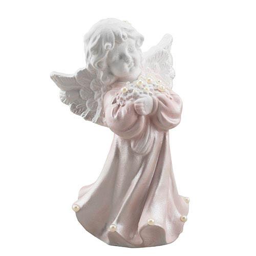 Статуетка Decoline Ангелик з перлинками,  (гіпс) AN0601-2(G)
