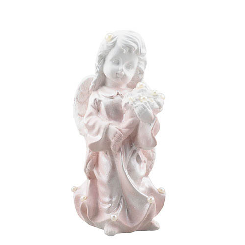 Статуэтка Decoline Ангелочек с букетом с жемчужинами, (гипс) AN0617-2 (G)