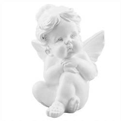 Статуетка Decoline Поцілунок ангела дівчинка біла,  (гіпс) AN0010(G)