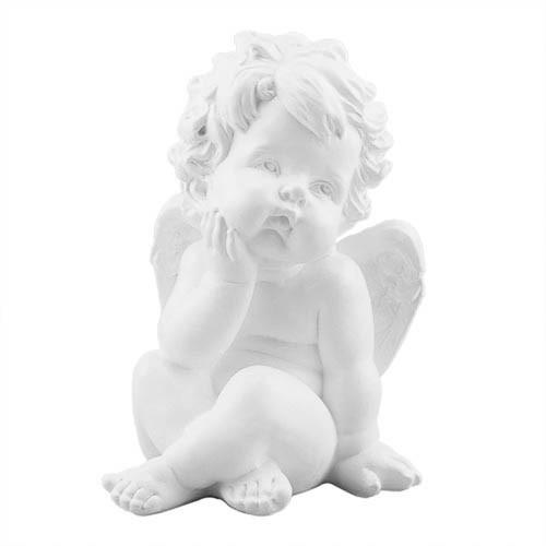 Статуэтка Decoline Поцелуй ангела мальчик белый, (гипс) AN0011 (G)