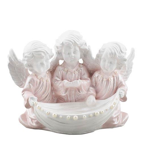Статуетка Decoline Три ангелики з чашею з перлинками,  (гіпс) AN0712-2(G)