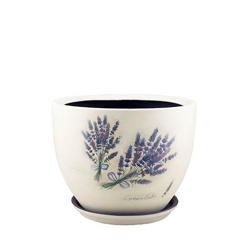 Горшок для цветов керамический Decoline Модена №2, 2,8 л. (декупаж - прованс) V2021-7