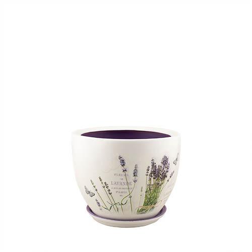 Горшок для цветов керамический Decoline Модена №3, 1,55 л. (декупаж) V2024