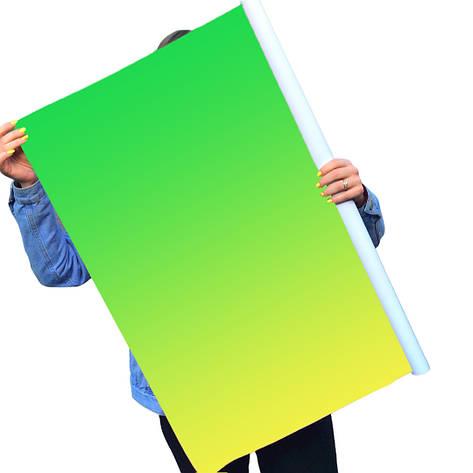 Однотонный виниловый фотофон зеленый градиент, фото 2