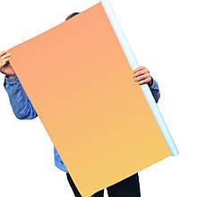 Однотонный виниловый фотофон оранжевый градиент