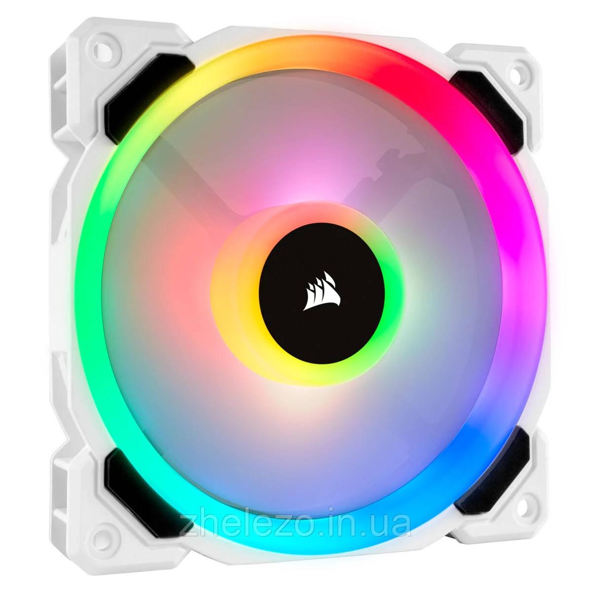 Вентилятор Corsair LL120 RGB (CO-9050091-WW), 120х120х25мм, 4-pin PWM, білий