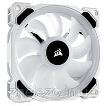 Вентилятор Corsair LL120 RGB (CO-9050091-WW), 120х120х25мм, 4-pin PWM, білий, фото 2