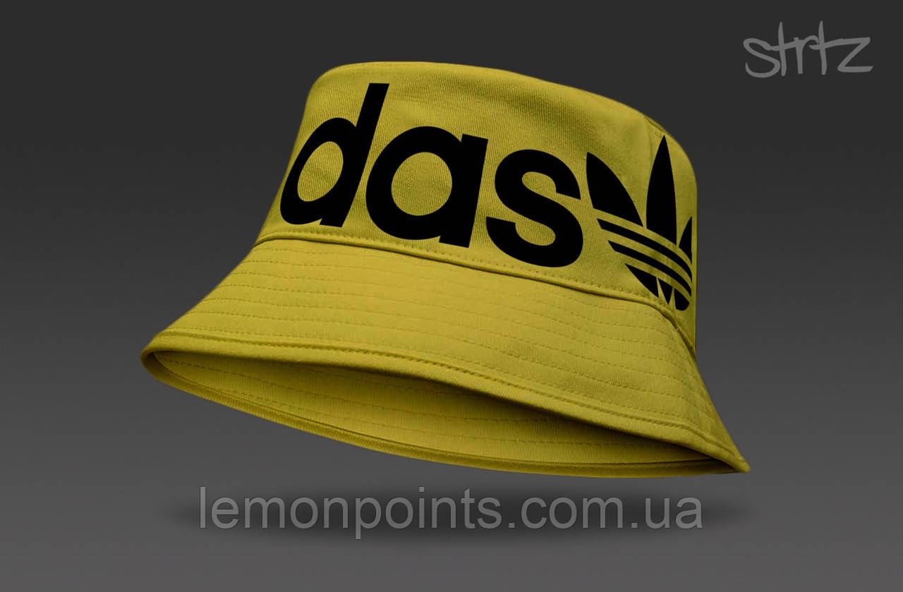 Панамка Adidas летняя хлопковая желтая