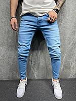 Мужские джинсы 2Y Premium зауженные голубые