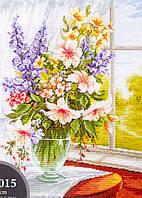 Luca-s Набор для вышивания Цветы у окна