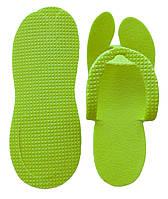 Тапочки одноразові в'єтнамки Зелені (25 пар/уп)