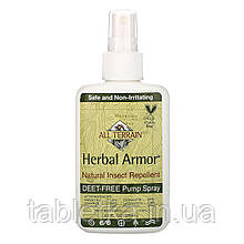 All Terrain, Herbal Armor, натуральный спрей от насекомых без ДЭТА, 120мл (4жидк. унции)
